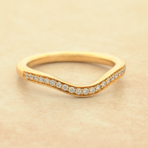 2MM Diamond Curved Anniversary Band