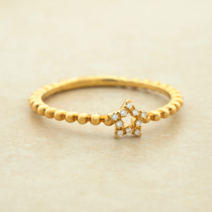 1.5MM Diamond Star Ring