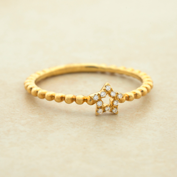 1.5MM Diamond Star Ring