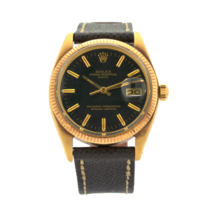 Men's Vintage Rolex Oyster Date 1503 14kt Yellow Gold Case & 14kt Yellow Gold Fluted Bezel Wrist Watch