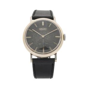 Vintage Gruen Precision Swiss 10kt White Gold-Filled Manual Wind Wrist Watch