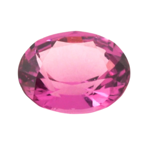 8.0mmx6.8mmx3.8mm Cherry Pink Oval Spinel