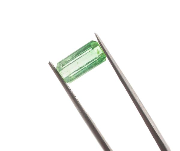 10.5mm x 5.2mm x 4.1mm Blue-Green Tourmaline