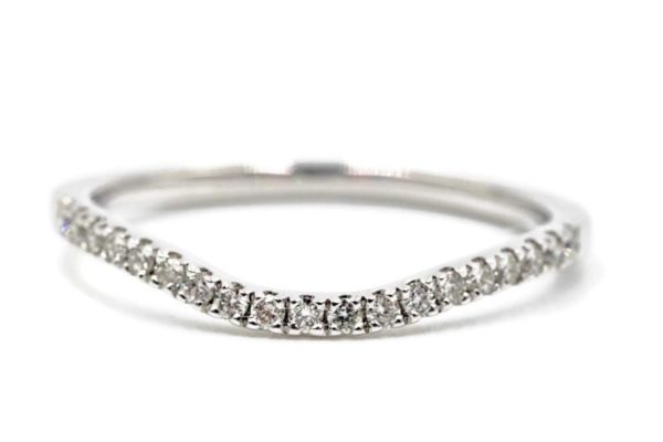 1.3MM Diamond Shared Prong Curved Band