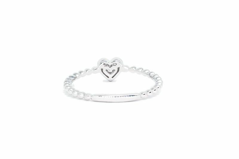 1.5MM Pave Diamond Heart Ring