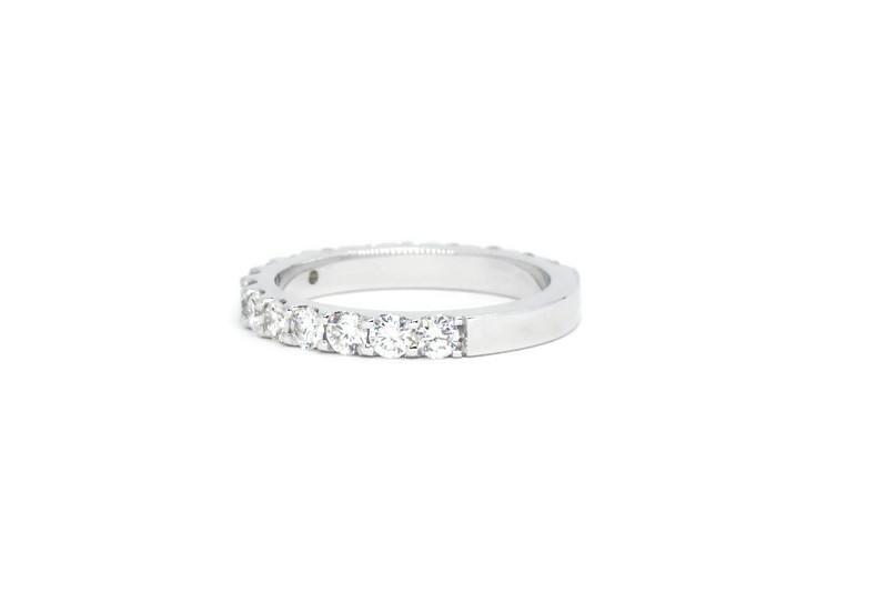 2.4MM 3/4 Eternity Round Diamond Wedding Band