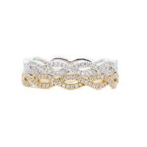 2.9MM Diamond Full Eternity Twist Band