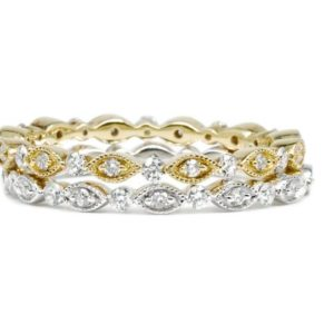 2MM Diamond Milgrain Full Eternity Band