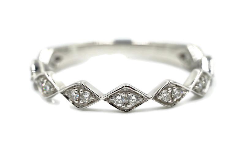 3MM Diamond Stackable Wedding Band