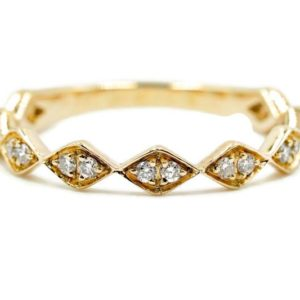 3MM Diamond Stackable Wedding Band