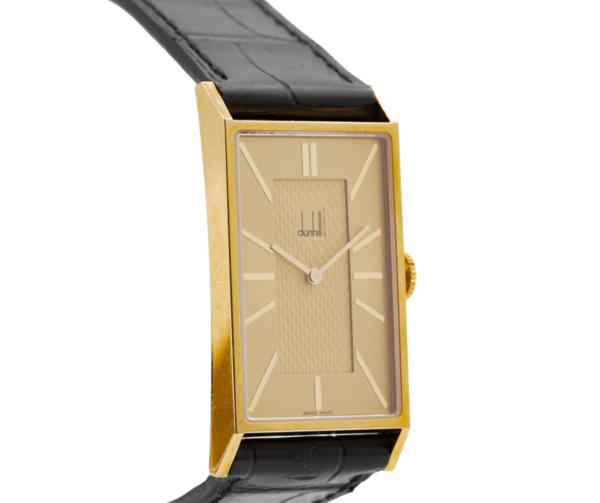 Brand New Rare Men's Dunhill 8037 18kt Yellow Gold Swiss Quartz Wrist Watch