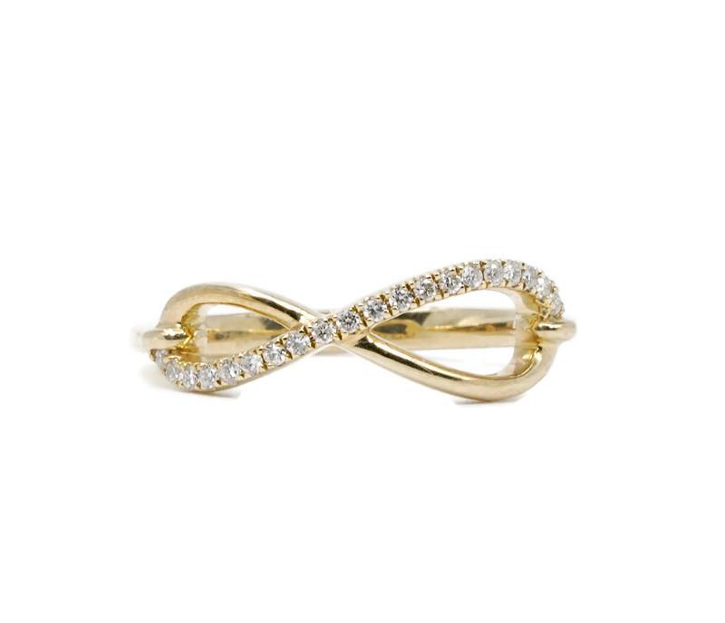 Diamond Infinity Knot Ring