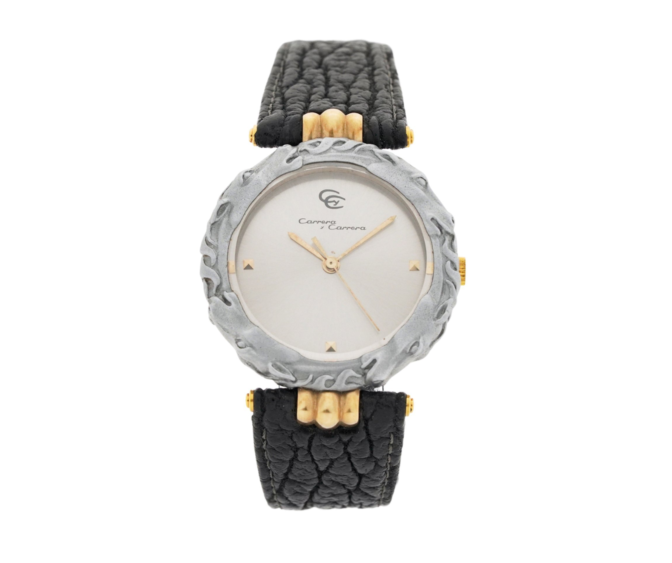 Ladies Carrera Y Carrera Kabajo Sculpted Titanium Horse & 18kt Yellow Gold Swiss Quartz Wrist Watch