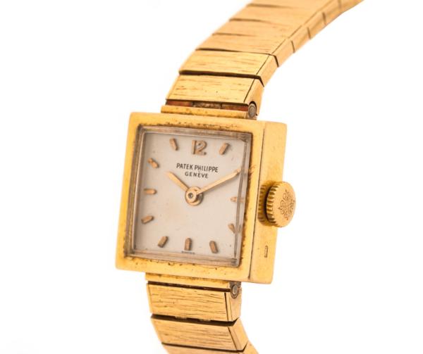Ladies Vintage Patek Philippe 3285/23 18kt Yellow Gold Swiss Manual Wind Wrist Watch