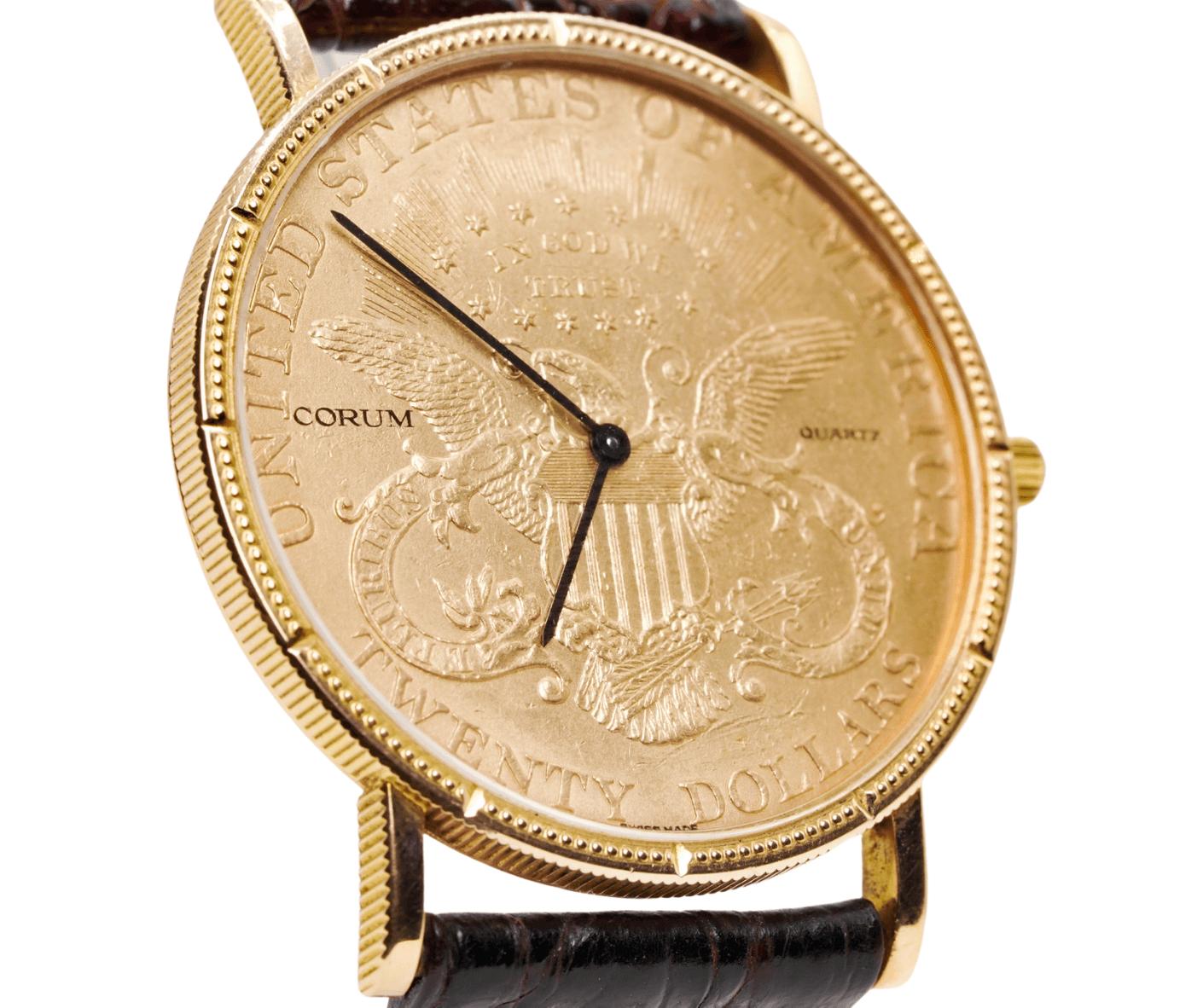Men's Corum 1882 $20 Gold Coin Wrist Watch