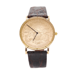 Men's Corum 1882 $20 Gold Coin Wrist Watch