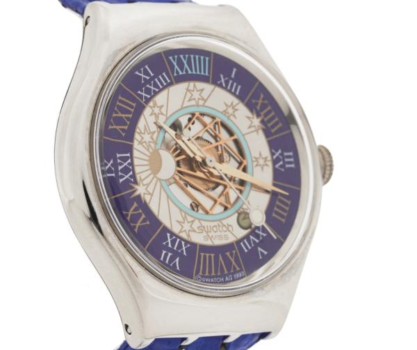 Men's Swatch Tresor Magique SAZ101 Platinum Swiss Automatic Wrist Watch