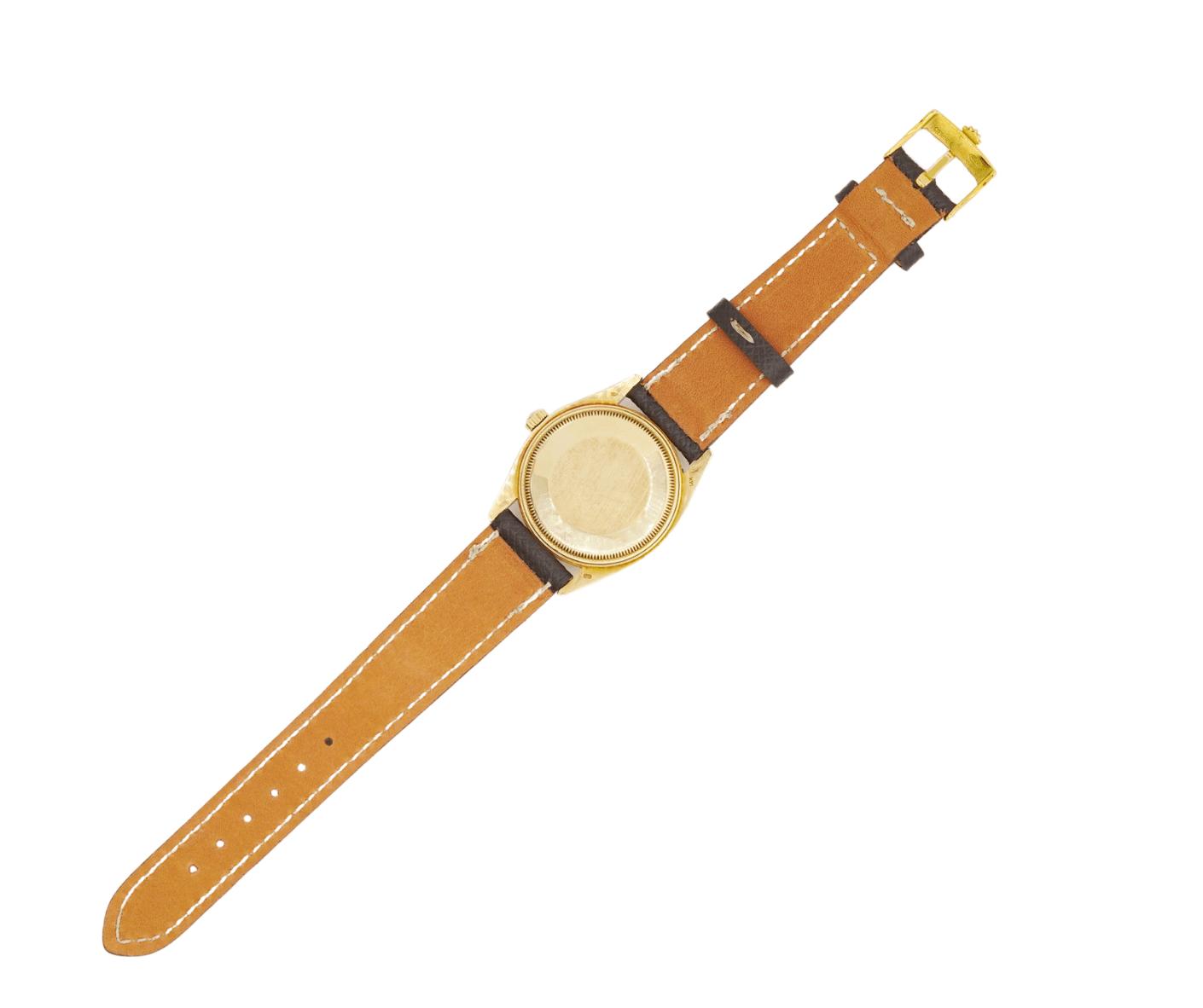 Men's Vintage Rolex Oyster Date 1503 14kt Yellow Gold Case & 14kt Yellow Gold Fluted Bezel Wrist Watch