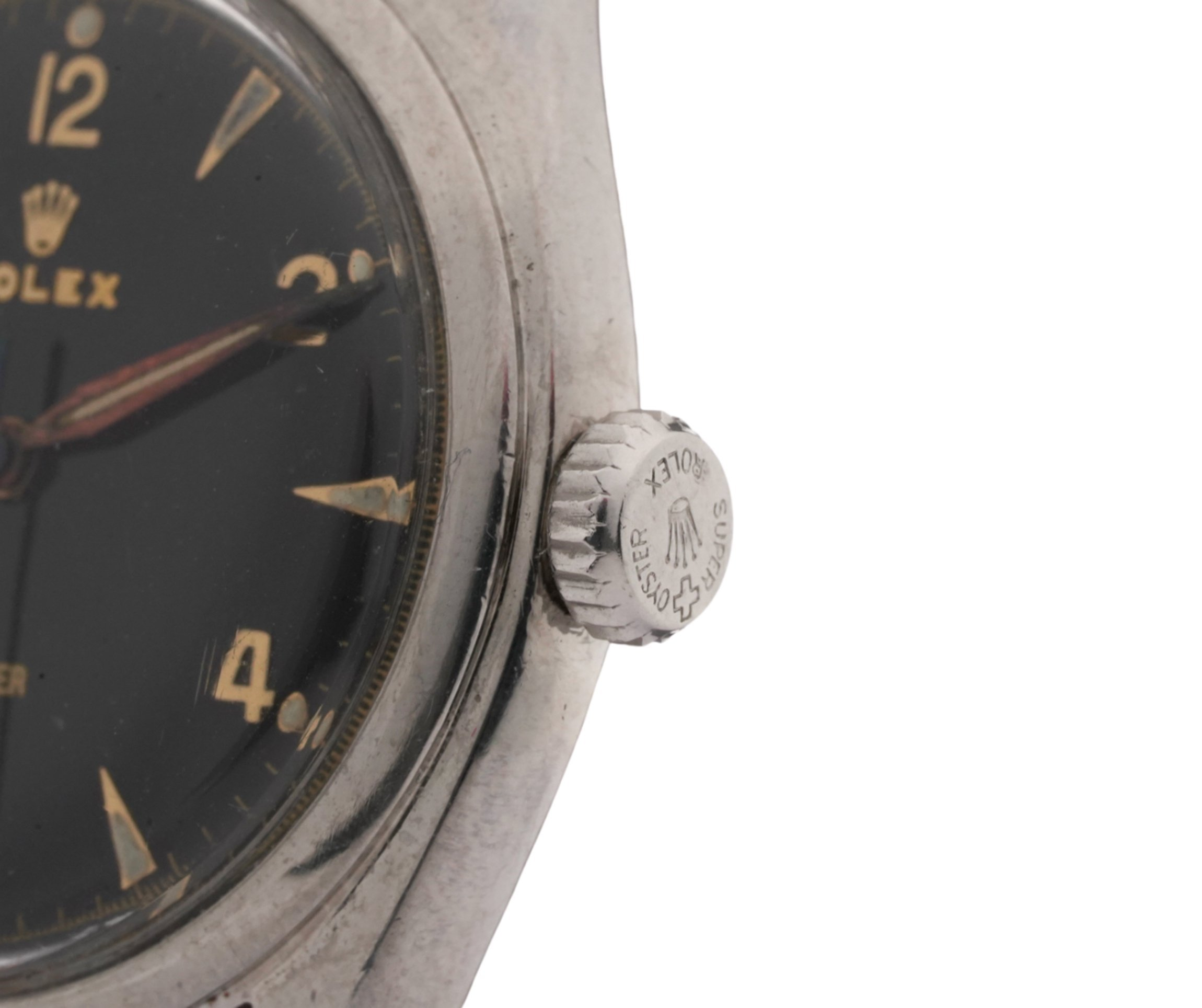 Men's Vintage Rolex Oyster Precision 6022 Swiss 710 Manual Wind Stainless Steel Wrist Watch