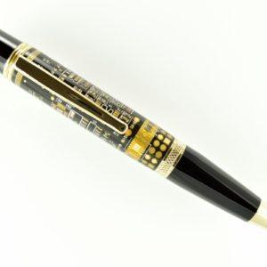 Opus Mechan Technica Collection Black Circuit Board Ballpoint Pen