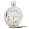 Rare Vintage Cartier Ultra Thin 42mm Swiss 17 Jewels Stem Wind & Set 18kt White Gold Hunter's Pocket Watch