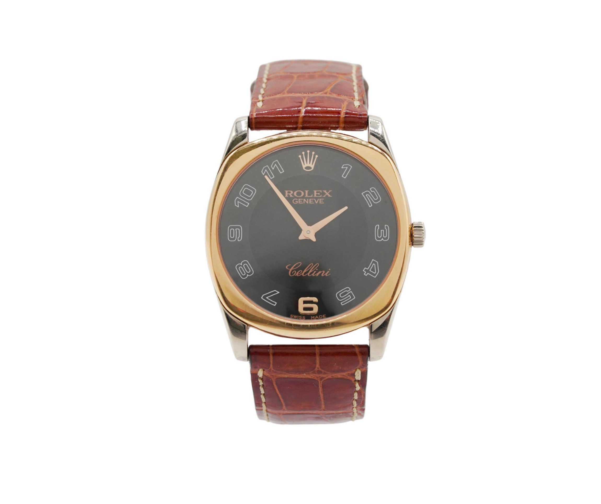 Rolex Cellini Danaos 4233 White Rose Gold Mens Watch