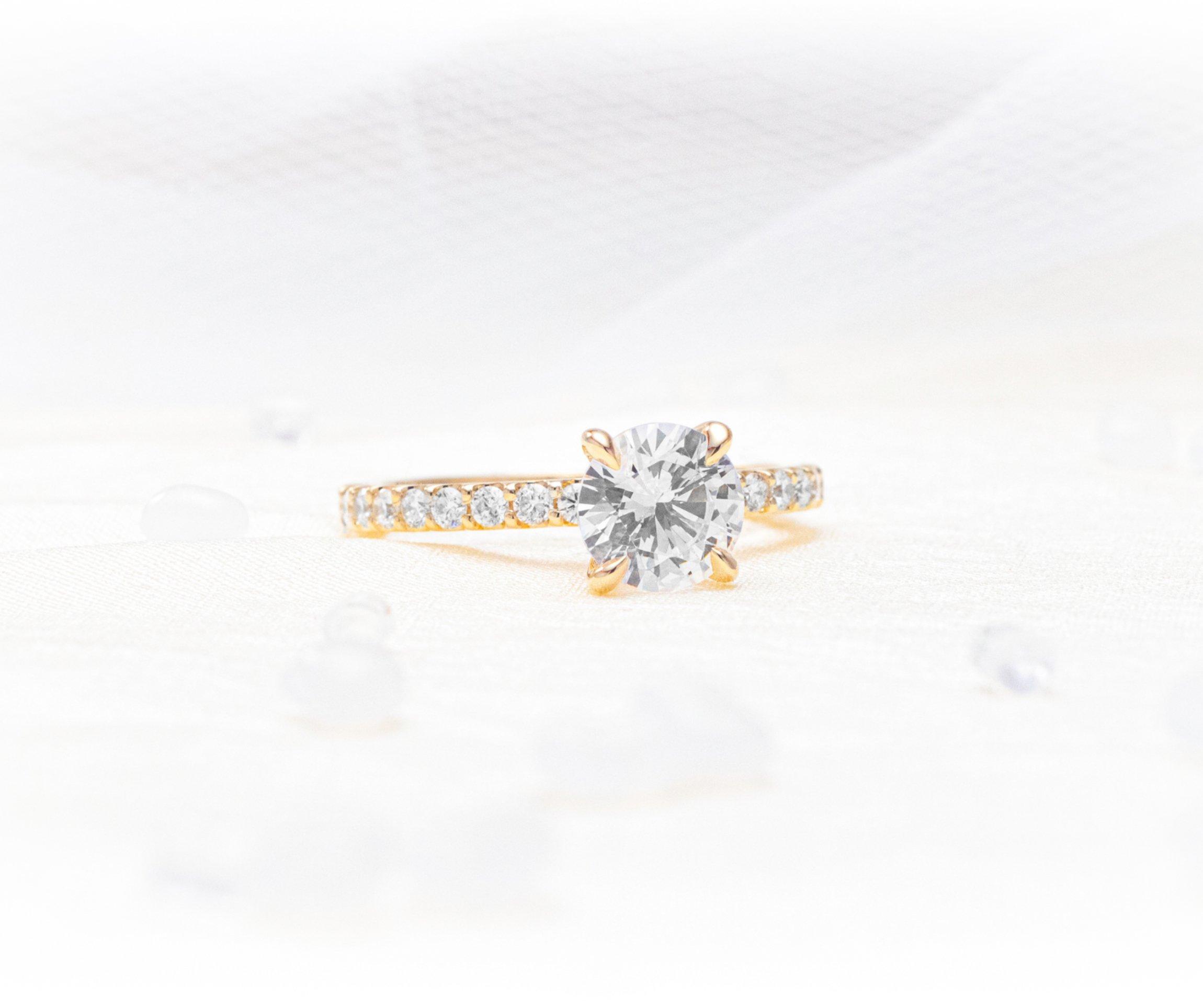 Solari 1.5mm Petite 3/4 Diamond Eternity Shared Prong