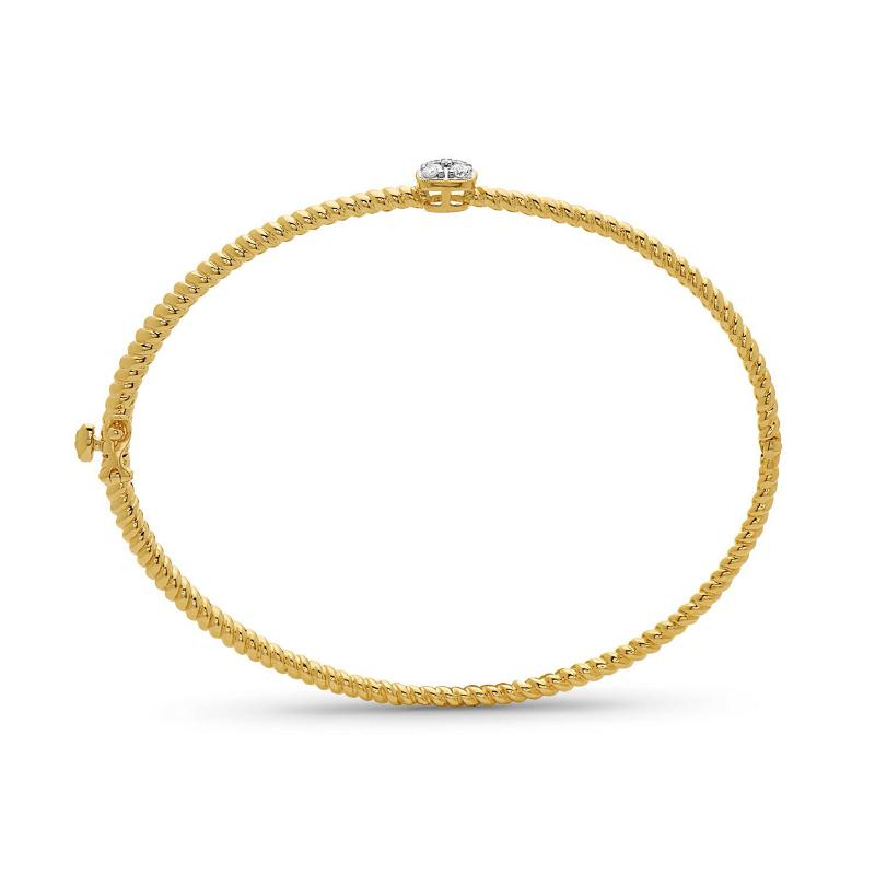 Women's 14kt Gold Diamond Bangle Bracelet