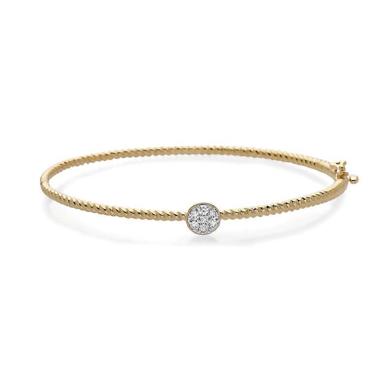 Women's 14kt Gold Diamond Bangle Bracelet