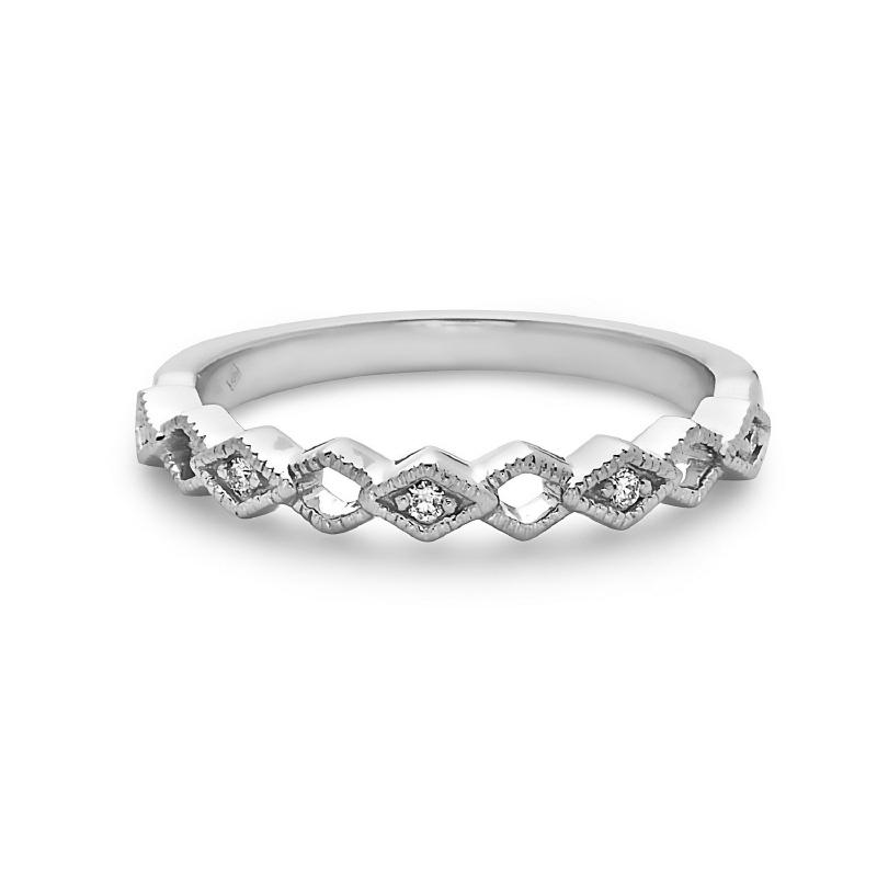 Women's 14kt Gold Diamond Stackable Ring
