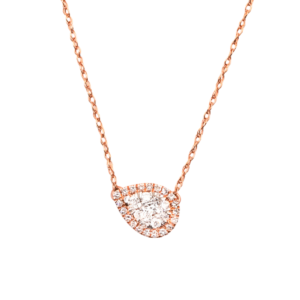 Women's 18 Inch 10kt Rose Gold .20 ctw White Diamond Necklace