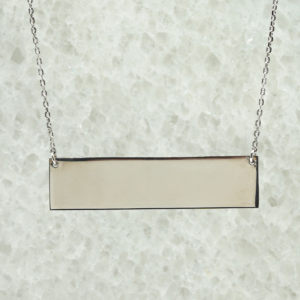 Sterling Silver Flat Bar Pendant