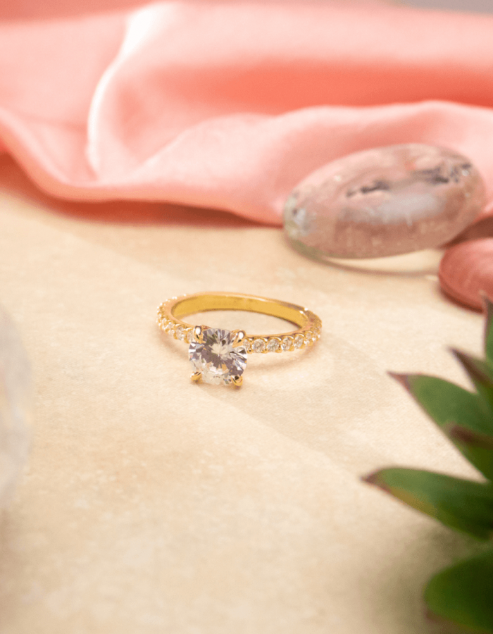 Solari 2mm 3/4 Diamond Eternity Shared Prong Engagement Ring